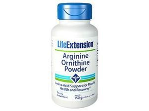 L-Arginine/L-Ornithine HCL Powder - Life Extension - 150 g - Powder