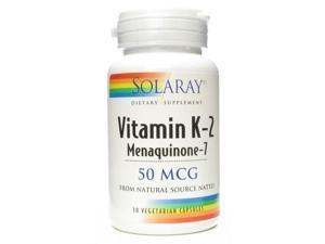 Vitamin K2 Menaquinone 7 - Solaray - 30 - VegCap