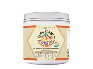 Plant Protein Light Chocolate Mocha - Pure Planet Products - 235g - Powder