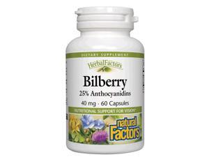 Bilberry Extract 40mg - Natural Factors - 60 - Capsule