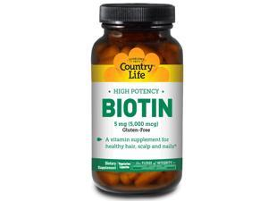 Biotin 5mg - Country Life - 60 - VegCap