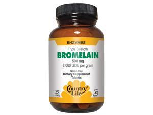 Bromelain 500mg, 2000 GUD/g - Country Life - 60 - Tablet