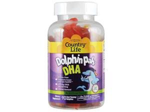 Dolphin Pals DHA Gummies For Kids - Country Life - 90 - Lozenge