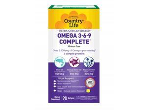 Ultra Concentrated Omega 3 6 9 - Country Life - 90 - Softgel