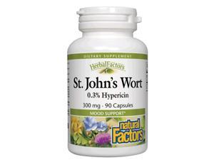 St. John's Wort Extract 300mg - Natural Factors - 90 - Capsule