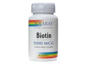 Biotin 5000mcg - Solaray - 60 - Lozenge