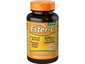Ester-C 500mg with Citrus Bioflavonoids - American Health Products - 120 - Capsule