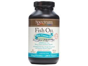 Fish Oil D 1000mg - Spectrum Essentials - 250 - Softgel