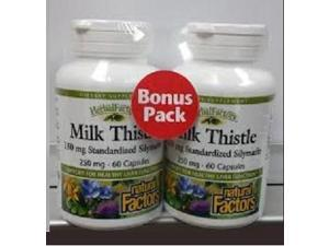 Milk Thistle Pair Pack - Natural Factors - 60/60 - Twin Pack