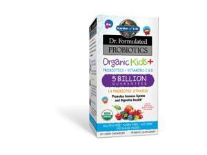 Dr. Formulated Probiotic -Organic Kids+5B-Berry Cherry - Garden of Life - 30 - Chewable