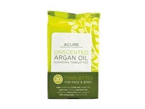 Argan Oil Cleansing Towelettes - Acure Organics - 30 ct - Towelette