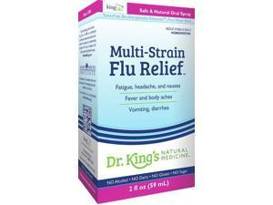 Multi-Strain Flu Relief - Dr King Natural Medicine - 2 oz - Liquid