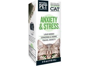 Anxiety & Stress for Cats - KingBio Natural Pet - 4 oz - Liquid