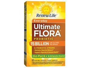 Ultimate Flora Everyday Probiotic Go Pack 15 Billion (Formerly RTS Daily) - Renew Life - 60 - VegCap