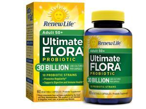 Ultimate Flora Adult 50+ Probiotic 30 Billion (Formerly Senior Formula) - Renew Life - 60 - VegCap