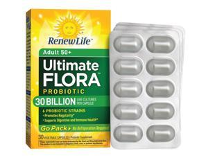 Ultimate Flora Adult 50+ Probiotic Go Pack 30 Billion (Formerly RTS Senior) - Renew Life - 30 - VegCap