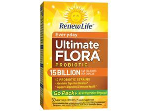 Renew Life Ultimate Flora Everyday Probiotic Go Pack 15 Billion (Formerly RTS Daily) - Renew Life - 30 - VegCap