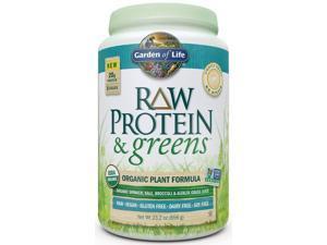 Raw Protein & Greens Lightly Sweetened - Garden of Life - 656 g - Powder
