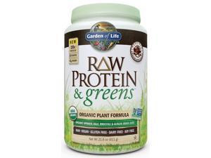 Raw Protein & Greens Chocolate - Garden of Life - 617 g - Powder