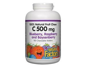 C 500mg Natural Fruit Chews-Blueberry, Raspberry & Boysenberry - Natural Factors - 180 - Chewable