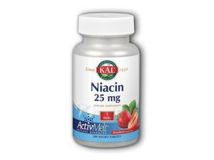 Niacin ActivMelt (25 mg Strawberry) - Kal - 200 - Lozenge