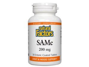 SAMe 200mg - Natural Factors - 60 - Tablet