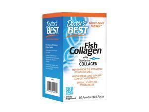 Fish Collagen with TruMarine Collagen - Doctors Best - 30 Stick Packs - Powder