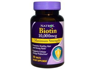 Natrol Biotin 10,000mcg, Maximum Strength, 100 Tablets