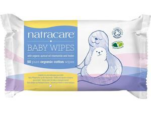 Baby Wipes Organic Cotton - Natracare - 50 ct - Wipes
