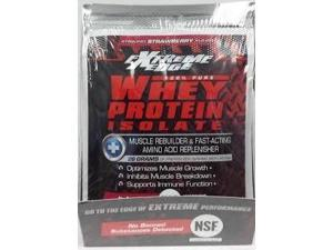 Extreme Edge Whey Protein Isolate - Strawberry Packets - Bluebonnet - 7 - Packet