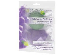 Polished to Perfection Konjac Facial Sponge Duo - Andalou Naturals - 2 pieces - Pack