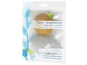 Clarity Konjac Facial Sponge Duo - Andalou Naturals - 2 pieces - Pack