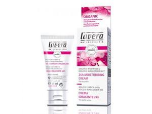 24HR Moisturizing Cream, Organic Wild Rose - Lavera Skin Care - 1 oz - Cream