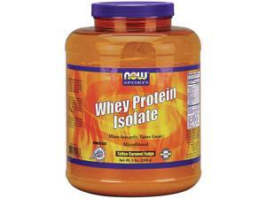 Whey Protein Isolate Toffee Caramel Fudge - Now Foods - 5 lbs - Powder