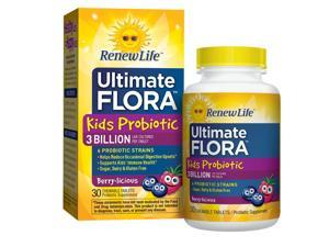 Ultimate Flora Kid's Probiotic - Renew Life - 30 - Chewable