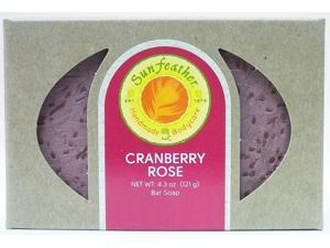 Cranberry Rose Soap - Sunfeather - 4.3 oz - Bar Soap