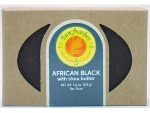 African Black Soap - Sunfeather - 4.3 oz - Bar Soap