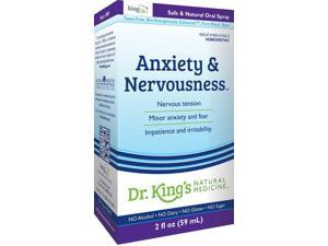 Anxiety and Nervousness - Dr King Natural Medicine - 2 oz - Liquid