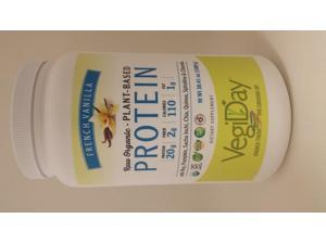 Raw Organic Vegan Planet Based Protein Drink Mix - French Vanilla - Natural Factors - 38.41 oz - Powder