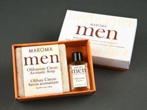 Men's Olibanum Citrus Soap & fragrance set - Maroma - 1 - Gift Pack