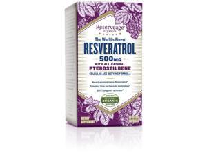 Resveratrol 500mg w/ Pterostilbene - Reserveage - 60 - Capsule