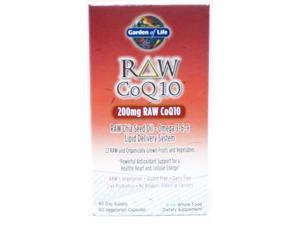 Raw CoQ10 - Garden of Life - 60 - VegCap
