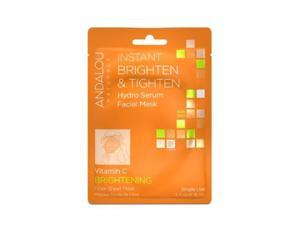 Hydro Serum Facial Mask Brightening  & Tighten - Andalou Naturals - 0.6oz - Mask