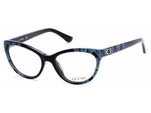 Guess 2554 Eyeglasses in color code 005 in size:52/17/135