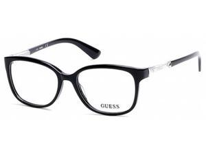 Guess 2560 Eyeglasses in color code 001 in size:52/16/135