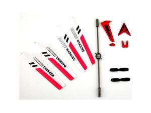 SYMA S107G RC HELICOPTER RED COLOR REPLACEMENT PARTS SET