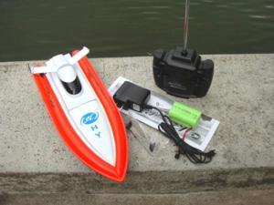 NC Brand New 12 Inches Beautiful ORANGE COLOR 4 Channels Radio Controlled RC Speed Racing Boat