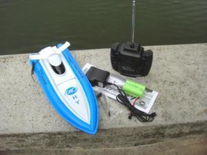 NC Brand New 12 Inches Beautiful BLUE COLOR 4 Channels Radio Controlled RC Speed Racing Boat