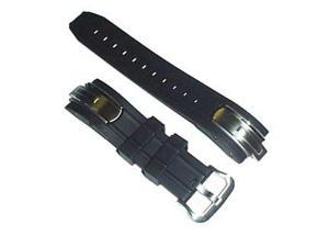 Casio Black Resin/Metal Ends Genuine Replacement Band for AMW200 series