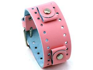 Nemesis #BN-P Pink Wide Leather Cuff Wrist Watch Band